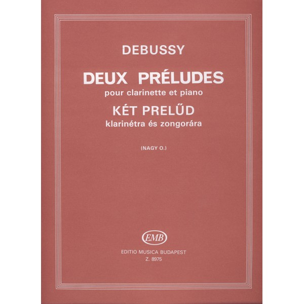Debussy, Claude - Two Preludes - for clarinet and piano