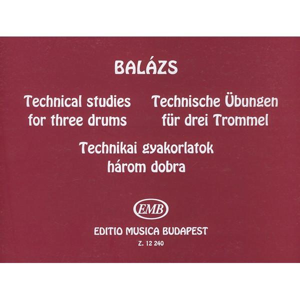 Balázs Oszkár - Technical Studies - for three drums
