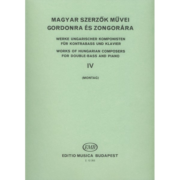 Works By Hungarian Composers - for double bass and piano