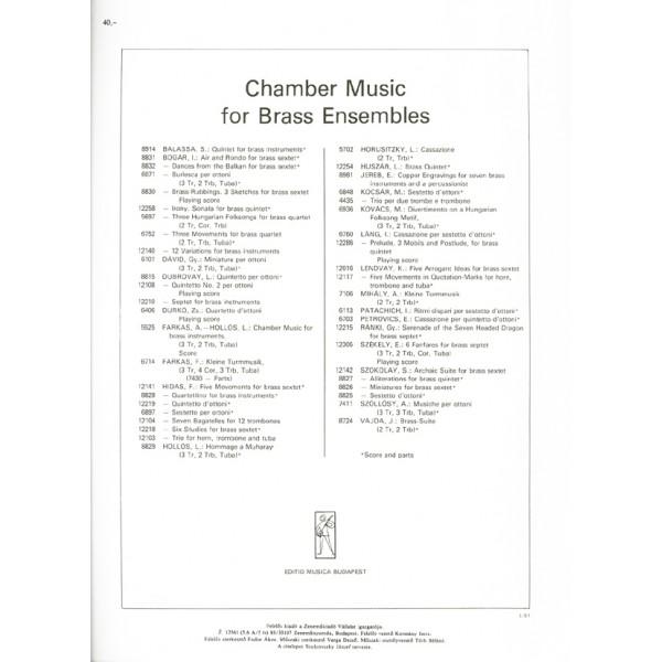 Hidas Frigyes - Training Patterns - for brass quintet