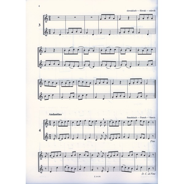 Papp Lajos - The Merry Pipers - 55 easy duets for descant recorders
