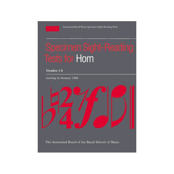 Specimen Sight-Reading Tests for Horn  Grades 1-5