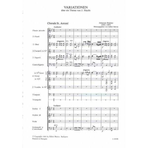 Brahms, Johannes - Variations On A Theme By J. Haydn