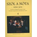 Szól A Nóta Színe-java -45 Hungarian Songs - Voice and violin part with piano accompaniment and indication of harmony