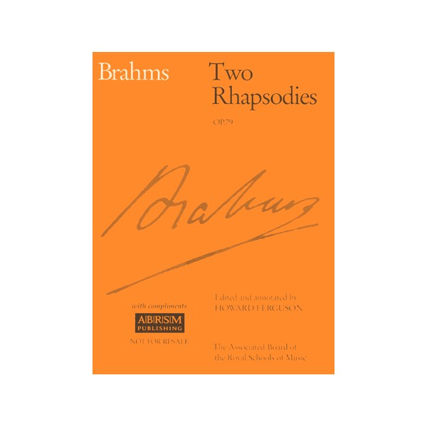 Two Rhapsodies Op. 79