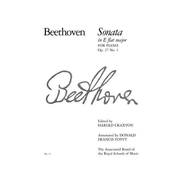 Piano Sonata in E flat  Op. 27 No. 1