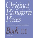 Original Pianoforte Pieces  Book III