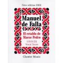 Falla, Manuel de - El Retablo De Mases Pedro (Vocal Score) - De Falla, Manuel (Composer)
