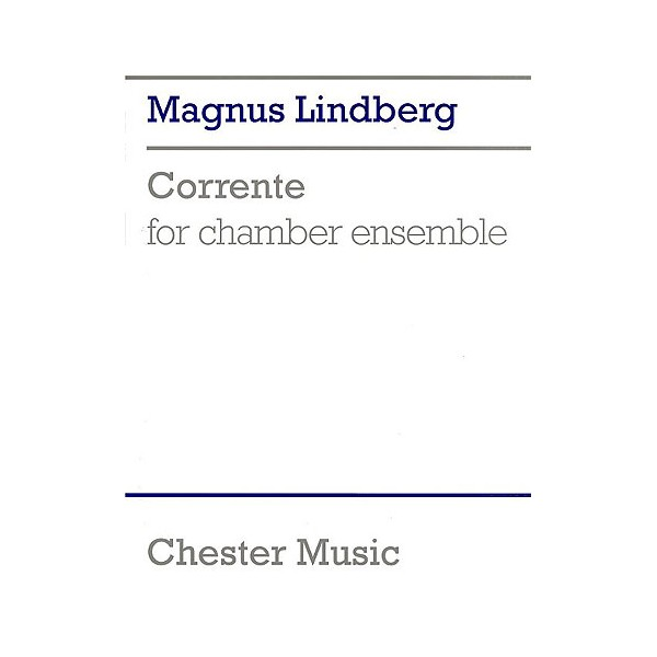 Magnus Lindberg: Corrente (Score) - Lindberg, Magnus (Composer)