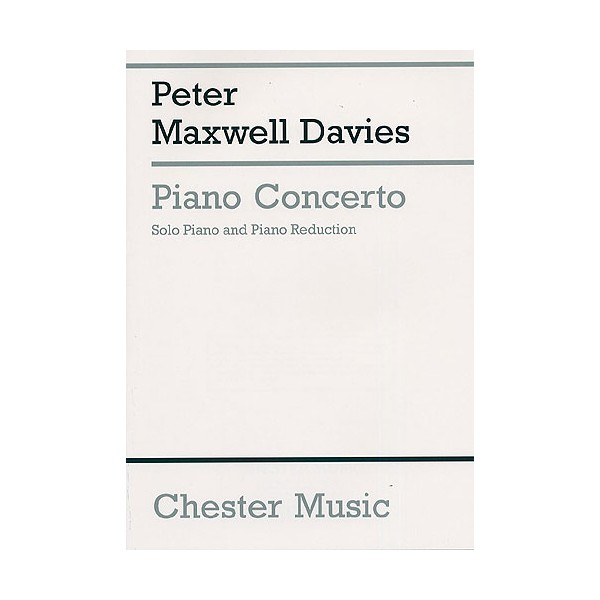 Peter Maxwell Davies: Piano Concerto (2 Piano Score) - Maxwell Davies, Peter (Composer)