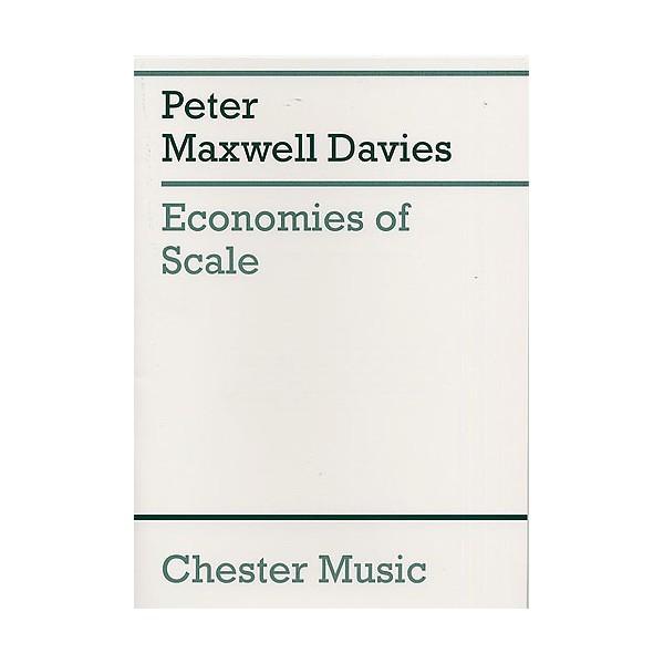 Peter Maxwell Davies: Economies Of Scale (Score) - Maxwell Davies, Peter (Artist)