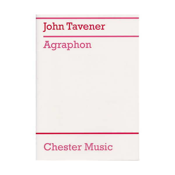 John Tavener: Agraphon - Tavener, John (Artist)