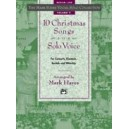 Hayes, Mark (arranger) - The Mark Hayes Vocal Solo Collection -- 10 Christmas Songs For Solo Voice - Medium Low Voice