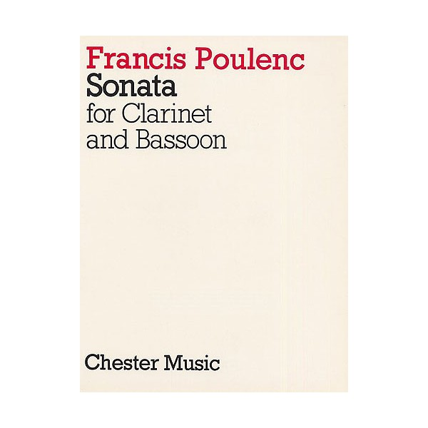 Francis Poulenc: Sonata For Clarinet And Bassoon - Poulenc, Francis (Artist)