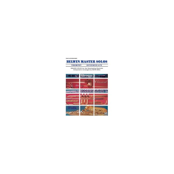 Various - Belwin Master Solos (trumpet) - Intermediate Piano Acc.