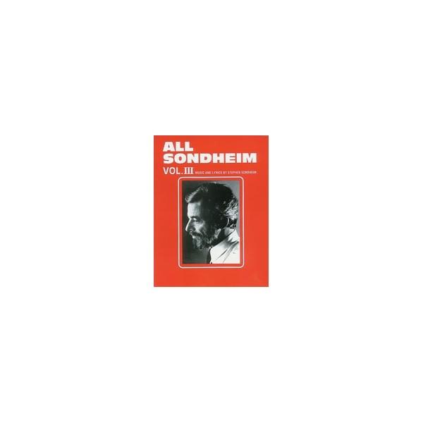 Sondheim, Stephen - All Sondheim - Piano/Vocal