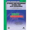 Student Instrumental Course Studies And Melodious Etudes For Alto Saxophone - Level I