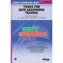 Student Instrumental Course Tunes For Alto Saxophone Technic - Level III