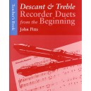Recorder Duets From The Beginning: Descant And Treble Teachers Book - Pitts, John (Author)