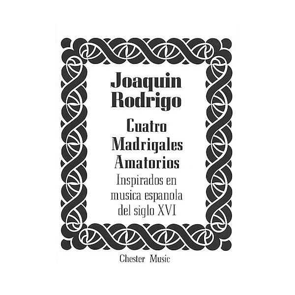 Rodrigo: Cuatro Madrigales Amatorios Medium Voice And Piano - Rodrigo, Joaquin (Artist)