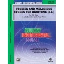 Student Instrumental Course Studies And Melodious Etudes For Baritone (b.c.) - Level I