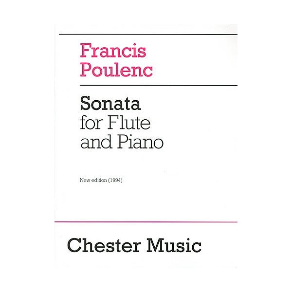 Francis Poulenc: Sonata For Flute And Piano - Poulenc, Francis (Composer)