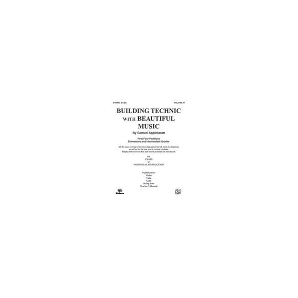 Applebaum, Samuel - Building Technic With Beautiful Music - Bass