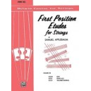 Applebaum, Samuel - First Position Etudes For Strings, Level 2 - Piano Acc.