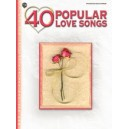 Various - 40 Popular Love Songs - Piano/Vocal/Chords