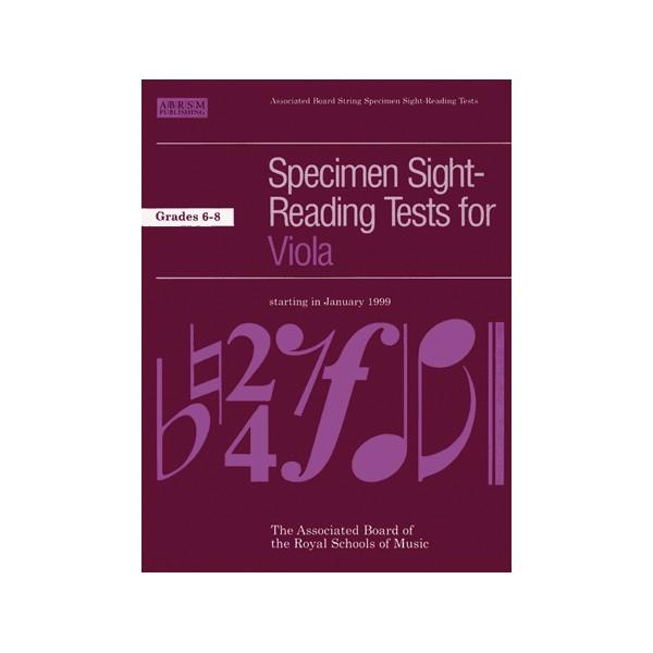 Specimen Sight-Reading Tests for Viola  Grades 6-8
