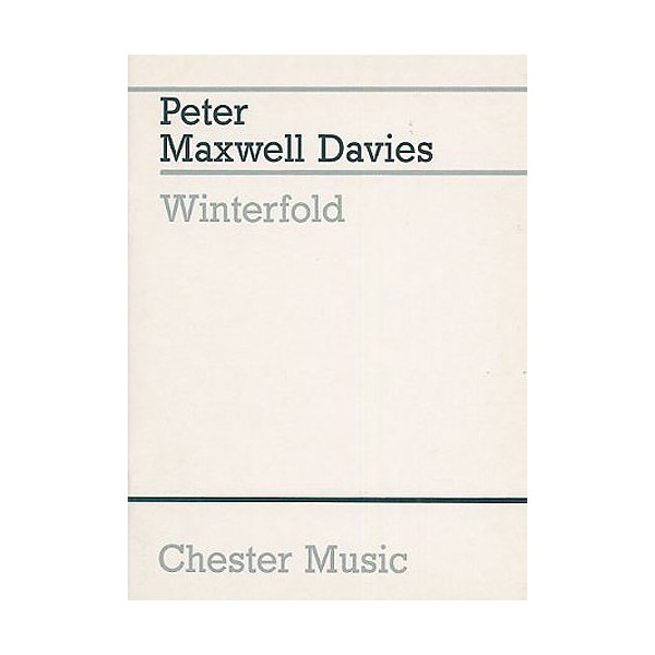 Peter Maxwell Davies: Threnody On A Plainsong For Michael Vyner - Maxwell Davies, Peter (Composer)
