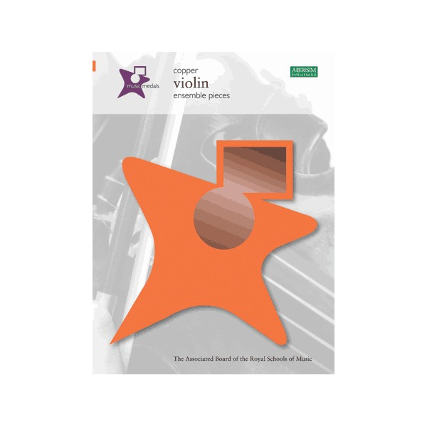 Music Medals Copper Violin Ensemble Pieces