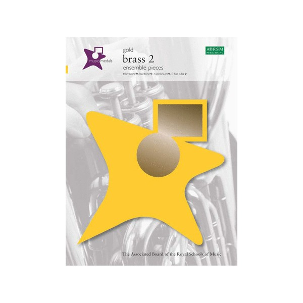Music Medals Gold Brass 2 Ensemble Pieces