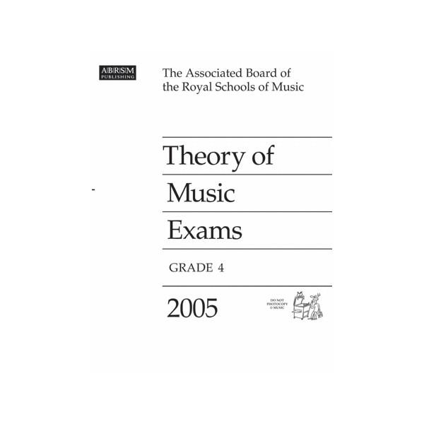 Theory of Music Exams  Grade 4  2005