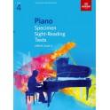 ABRSM Piano Specimen Sight-Reading Tests, Grade 4 (Four)
