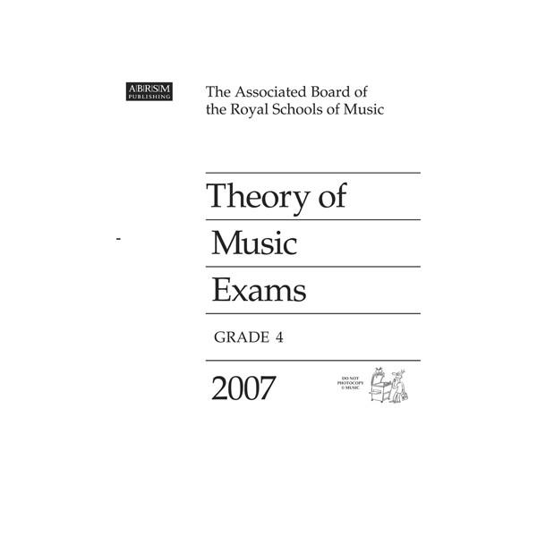 Theory of Music Exams  Grade 4  2007