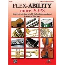 Flex-ability More Pops -- Solo-duet-trio-quartet With Optional Accompaniment - Flute