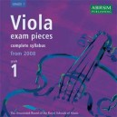Viola exam pieces  complete syllabus from 2008  Grade 1 CD ONLY