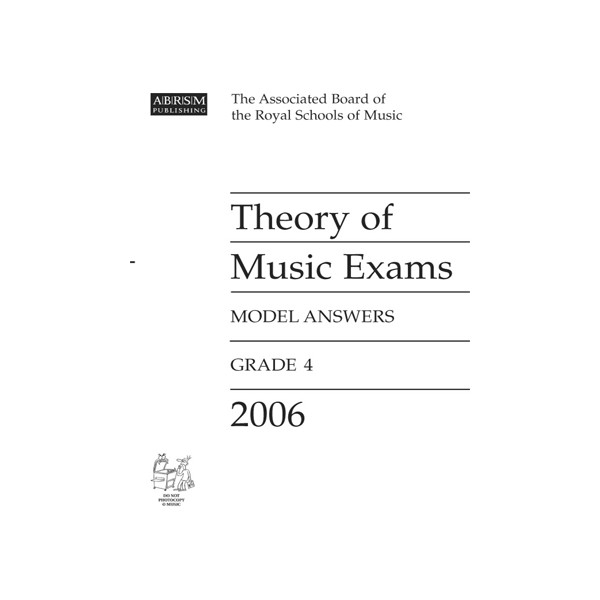 Theory of Music Exams Model Answers  Grade 4  2006