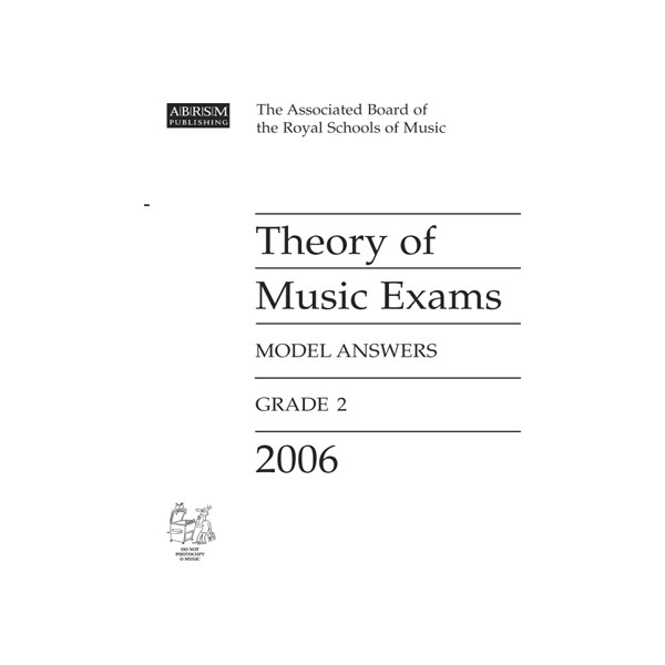 Theory of Music Exams Model Answers Grade 2 2006