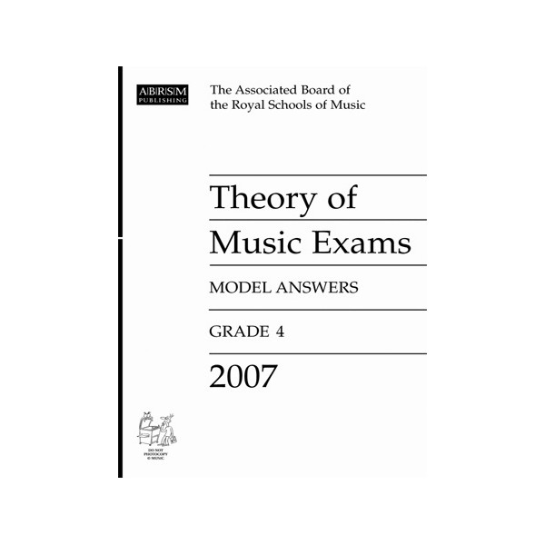 Theory of Music Exams Model Answers  Grade 4  2007