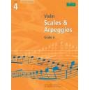 Scales and Arpeggios for Violin  Grade 4