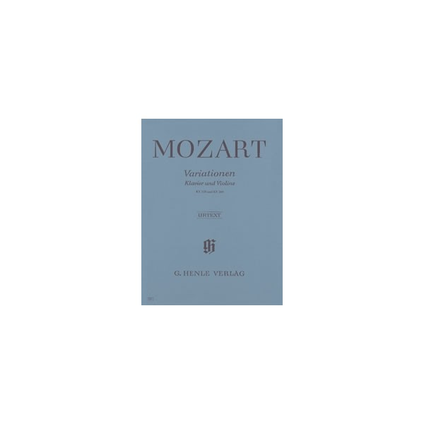 Mozart, Wolfgang Amadeus - Variations for Piano and Violin