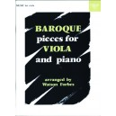 Baroque Pieces for Viola and Piano - Forbes, Watson