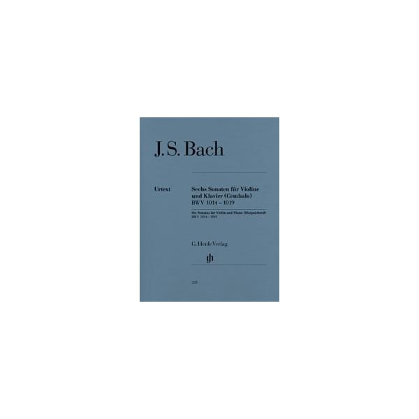 Bach, Johann Sebastian - Six Sonatas for Violin and Piano (Harpsichord) BWV 1014 - 1019