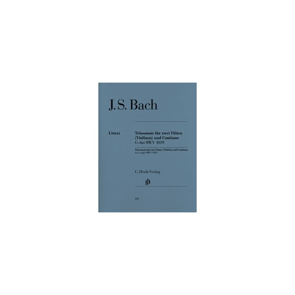 Bach, Johann Sebastian - Trio Sonata for two Flutes and Basso Continuo in G major with reconstructed version for two Violins  BW