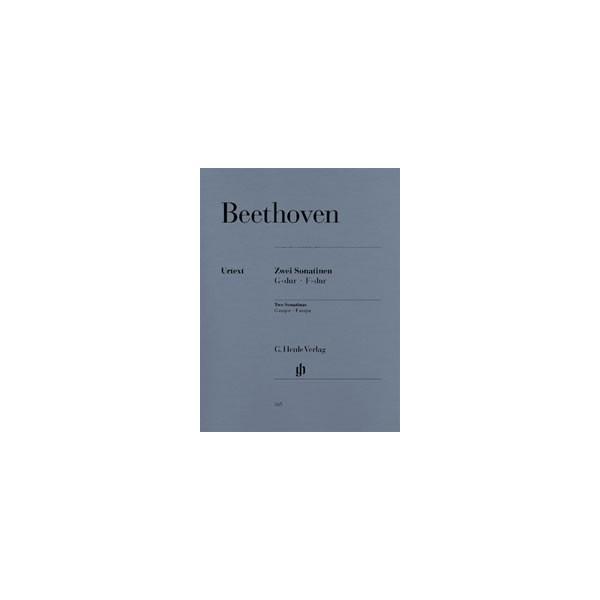 Beethoven, Ludwig van - 2 Sonatinas for Piano F major and G major Anh. 5