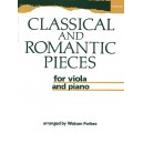 Classical and Romantic Pieces for Viola and Piano - Forbes, Watson