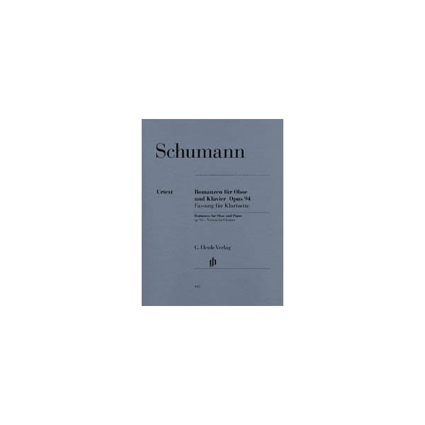 Schumann, Robert - Romances for Oboe (or Violin or Clarinet) and Piano (version for Clarinet) op. 94