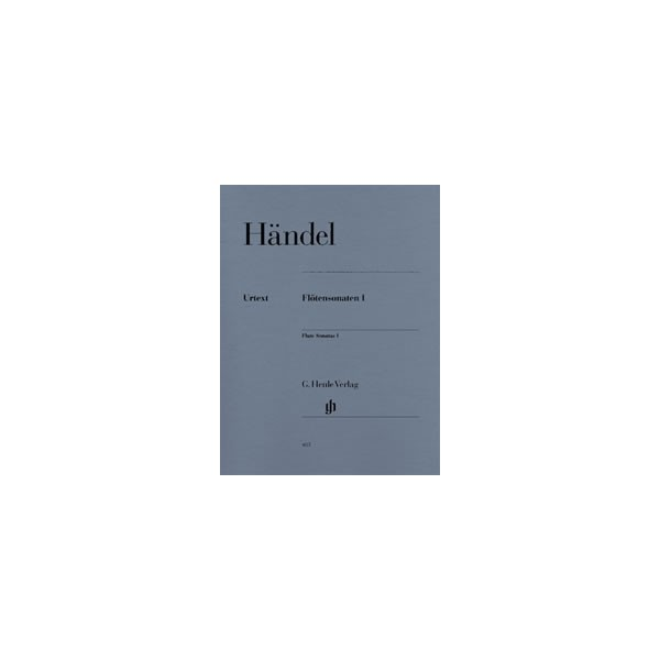 Handel, George Frideric - Flute Sonatas   Band 1 - (with separate Flute/Basso Continuo part (two copies))